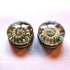 Glass ear gauges 1  25mm   borosilicate by DerekJonesGlassArt