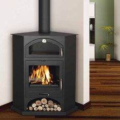 Corner Wood Burning Stove Fireplace Corner Wood Stove Bronpi
