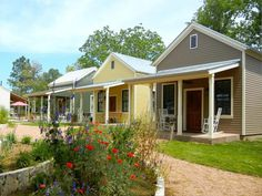 Fredericksburg Herb Farm   offers more than herbs. Visitors can stay at one of the garden's charming   new pastel cottages.