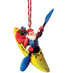 Whitewater Kayaking Santa Ornament @ Campmor.com