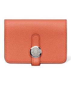 Hermes - Dogon leather card holder.