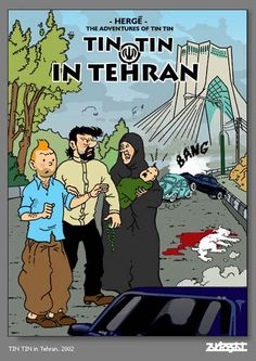 Tintin in Tehran by Zartosht