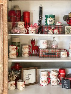 I am sharing easy tips and ideas on how to style a hutch for Christmas easily and stress-free. Merry Little Christmas, Winter Christmas, Christmas Home, Vintage Christmas, Christmas Crafts, Burlap Christmas, Primitive Christmas, Christmas Christmas, Christmas Wreaths