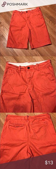 "Abercrombie Boy's Shorts Good condition. No flaws. A burnt orange color. Inseam 9"" Size 16 Abercrombie Bottoms Shorts"