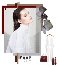 """""""WHITE"""" by izoche ❤ liked on Polyvore featuring Hermès, Gianvito Rossi, TIBI and PERIGOT"""