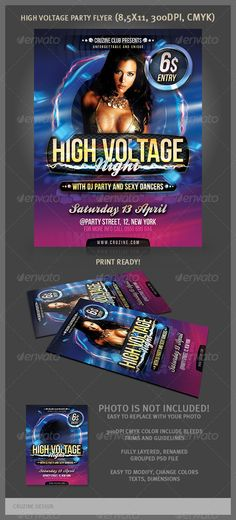 Realistic Graphic DOWNLOAD (.ai, .psd) :: http://vector-graphic.de/pinterest-itmid-1001992404i.html ... High Voltage Party Flyer ...  cd, club, cover, dark, disco, dvd, flyer, fun, future, futuristic, high, invitation, music, night, party, postcard, poster, sexy, template, voltage  ... Realistic Photo Graphic Print Obejct Business Web Elements Illustration Design Templates ... DOWNLOAD :: http://vector-graphic.de/pinterest-itmid-1001992404i.html