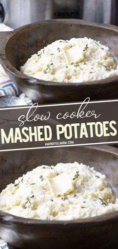 Prepare to have your mind blown by Slow Cooker Mashed Potatoes! This recipe is incredibly easy to prepare with just a few simple ingredients. Seasoned with garlic and Parmesan, this crock pot side dish will complete your holiday meals! Give it a try on Crocktober!