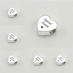 Engraved heart charm #beads for #european #style bracelets.,  View more on the LINK: http://www.zeppy.io/product/gb/2/252726893176/