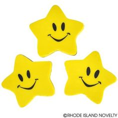 """Our 1.5-inch Smiley Face Star Erasers will shine bright in your back to school supplies. Add them to your classroom prize bin to reward your """"star students"""" for good behavior or attendance. 24 pieces per unit. Ages 5+ #backtoschool #ilovemystudents #education #learning #nerdalert"""