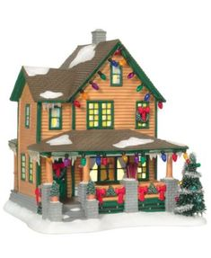 Department 56 Christmas Story Ralphie's House Add a Christmas story to your Christmas village. all the pieces are here! My son's adore this movie and would love the house! Department 56 Christmas Village, Christmas Village Display, Christmas Village Houses, Christmas Store, Christmas Villages, All Things Christmas, Christmas Holidays, Christmas Decorations, Christmas Ideas
