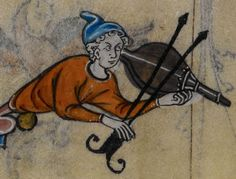 Detail from medieval manuscript, British Library Stowe MS 17 'The Maastricht Hours', 178v