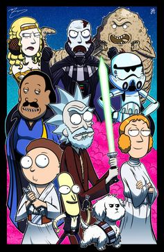 Rick and Morty Crossovers by joehoganart - Imgur