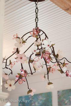 Dogwood chandelier.  LOVE IT!