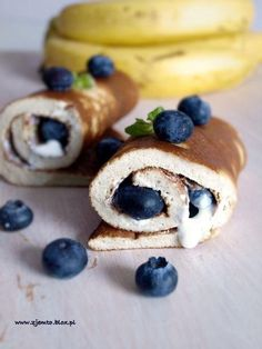 Recipe by clicking on the image. Super Healthy Recipes, Healthy Sweets, Sweet Recipes, Healthy Food, Polish Recipes, Breakfast Recipes, Food Porn, Food And Drink, Cooking Recipes