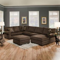 brown and Blue Living RoomThe Best Living Room Paint Color