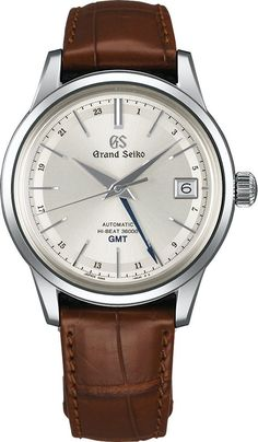Grand Seiko Watch Hi-Beat 36000 GMT Pre-Order #add-content #basel-17 #bezel-fixed #bracelet-strap-leather #brand-grand-seiko #case-depth-13-9mm #case-material-steel #case-width-39-5mm #date-yes #delivery-timescale-call-us #dial-colour-silver #gender-mens