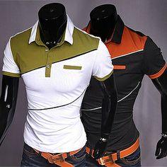 2014 New Collection Camisa Polo, Mens Polo T Shirts, Polo Shirt, Men's Fashion, Fashion Outfits, Golf Wear, Bowling Shirts, Hilfiger Denim, Mens Clothing Styles