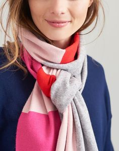 Flurrywell null Knitted scarf , Size One Size Joules, Womens Scarves, Grey, How To Wear, Style, Fashion, Gray, Swag, Moda