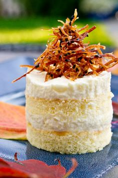 Autumn Kabocha (Pumpkin) Honey Mousse Cake