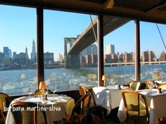 The River Cafe- Under the Brooklyn Bridge need to eat here next time we are in NY!
