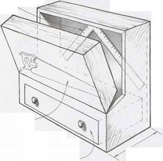 Lidded Totes - Tool Chests - Woodworking Archive Tool Box Diy, Wood Tool Box, Wooden Tool Boxes, Wood Tools, Woodworking Bench Plans, Woodworking Workshop, Woodworking Projects, Welding Projects, Diy Garage Storage