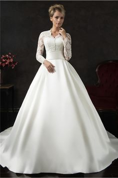 Wedding Dresses With Long Sleeves Vintage Lace Long Sleeves Wedding Dresses Sexy Deep V Neck Princess Ball Gown Bohemian Beach Bridal Gowns Buttons Back Custom Made Hawaiian Wedding Modest Wedding Gowns, Western Wedding Dresses, Wedding Dress Train, Classic Wedding Dress, Wedding Dress Sleeves, Perfect Wedding Dress, Bridal Dresses, Lace Wedding, Dress Lace