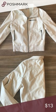 Cream leather jacket lightly worn seduction Jackets & Coats