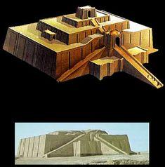 Sumerians--Ancient Mesopotamian Great Ziggurat of Ur.