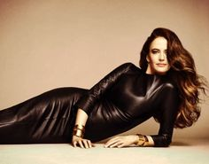 TBT to the gorgeous Eva Green wearing Jitrois black long leather dress for @grazia_it