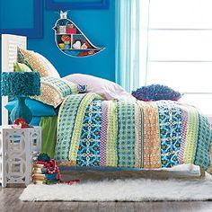 Bohemian Stripe Comforter and Sham