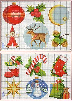 Вышивка крестом новогодние рисунки