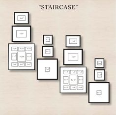 Creating a gallery wall - staircase