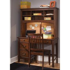 Best Corner Desk With Hutch For Home Office: Home Office Decorating Ideas With Photo Frame And Corner Desk With Hutch