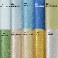 19pcs / set - 20X22CM Vysoká kvalita DIY glittle umelej kože / PU glittle koža / DIY glittle tkaniny (môžete zvoliť farbu)
