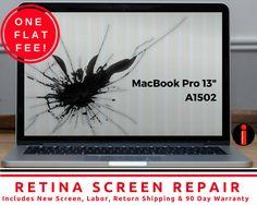 "MacBook Pro Retina A1502 13"" CRACKED SCREEN REPAIR REPLACEMENT SERVICE  #Apple"