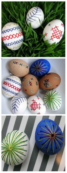Embroidered Easter Eggs ~ DIY Decorating