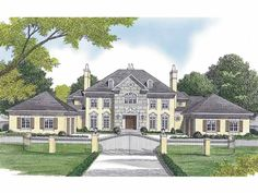 European House Plan with 6909 Square Feet and 5 Bedrooms(s) from Dream Home Source | House Plan Code DHSW65674