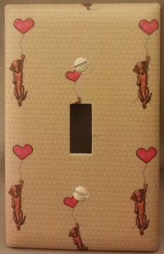 Dachshunds Switch Plate Cover xoxo Doxie Wiener Mini Dachshund Long Hair Dapple #PassSeymour
