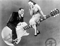 Lester William Polsfuss (Better Known As Les Paul) with his wife Mary Ford
