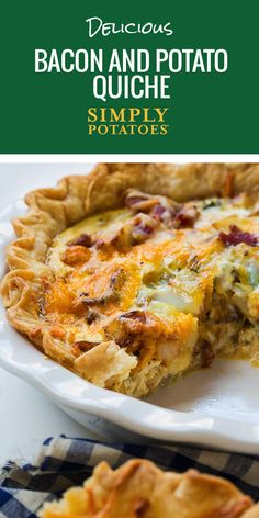 Eggs, potatoes and bacon -- the holy trinity of breakfast food. Rimmed with pie crust and topped off with cheese, this dish will make your guests want to quiche the cook.