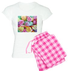 Personalizable Candy Hearts Pajamas on CafePress.com
