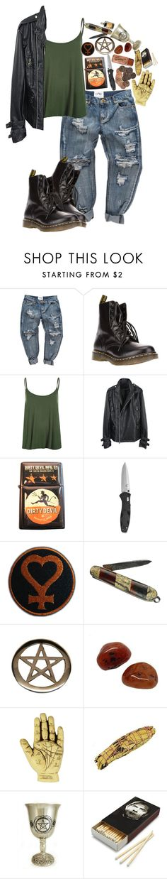 """It's Creepin Up On Me"" by bipolarbabe ❤ liked on Polyvore featuring Dr. Martens, WearAll and Sourpuss"