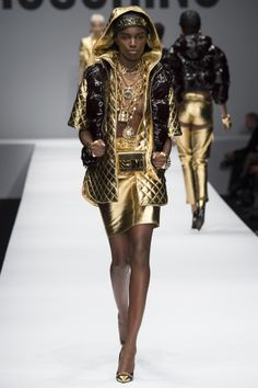 Moschino Ghetto Fabulous - Metallic fabric always dubious unless you working high power lines and need a wearable Faraday Cage...