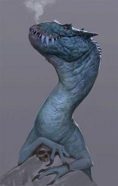 Pleased dragon, Ville Sinkkonen on ArtStation at https://www.artstation.com/artwork/pleased-dragon