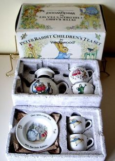 "Wedgwood Peter Rabbit 10 Piece ""Vintage"" Children's Tea Set Boxed EX Cond | eBay"