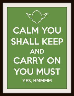 Yoda Keep Calm Cross Stitch Pattern, Counted Cross Stitch, Needlepoint Pattern, Star Wars Yoda Cross Stitch Pattern. $4.47, via Etsy.