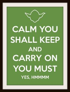 Yoda Keep Calm Cross Stitch Pattern, Counted Cross Stitch, Needlepoint Pattern, Star Wars Yoda Cross Stitch Pattern. $4.47, via Etsy.