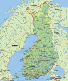 A map of Finland, because I'm going to Finland in January 2014. Its cold there, so what kind of clothes should I bring with me?  (2.30pm October 28th, 2013 at home)