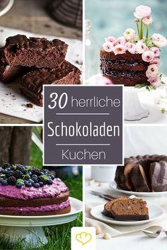 Schokoladenkuchen über Schokoladenkuchen - einer leckerer als der andere! Hier findet ihr die 30 besten Blogger Rezepte für Schoko-Kuchen!