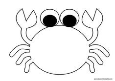 Design-Krabbe Art Drawings For Kids, Easy Drawings, Art For Kids, Crafts For Kids, Under The Sea Crafts, Under The Sea Theme, Felt Animal Patterns, Quiet Book Patterns, Animal Coloring Pages